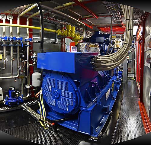 Interno container con cogerneratore MWM